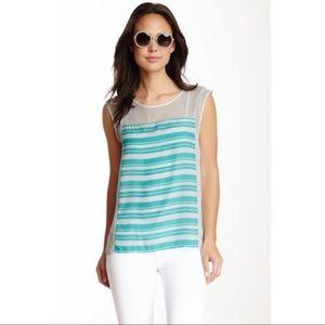 NEW Olive & Oak Women's Striped Short Sleeve Top